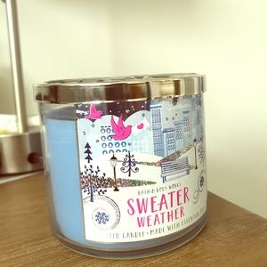 Sweater Weather bath and body works scented candle